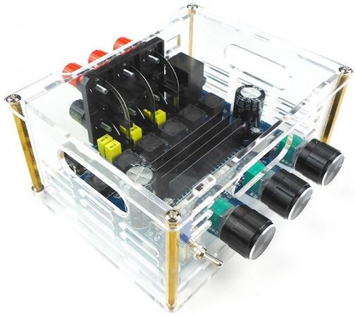 MP3117box. Усилитель НЧ D-класс 2.1, 2х50Вт, 1x100Вт (TPA3116)