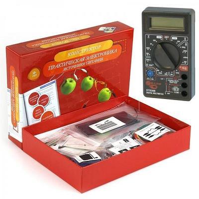 RU0073. Электронный конструктор Источники питания c мультиметром в комплекте