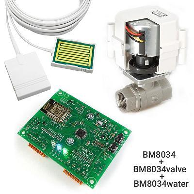 Устройство для сбора и передачи данных + Шаровой кран с электроприводом универсальный + Датчик протечки воды универсальный