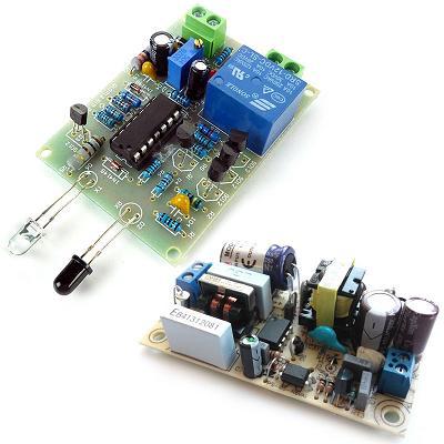 Набор радиолюбителя для сборки ИК сенсора + AC-DC Импульсный источник питания 12В 0.5А