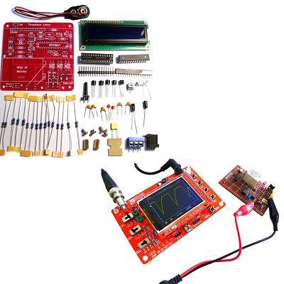 Компактный цифровой осциллограф + Тестер электронных компонентов, включая ESR конденсаторов