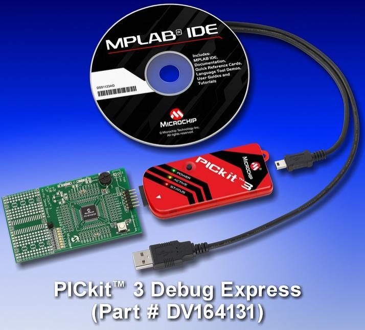 Внутрисхемный отладчик / программатор / эмулятор PIKkit 3 (PG164130) контроллеров и ключей KeeLOQ