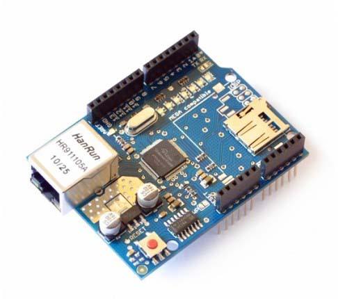Модули расширения для контроллеров Ethernet shield for Arduino W5100. Модуль RM002