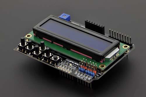 Дисплей LCD 1602 Shield For Arduino + клавиатура 6 кнопок