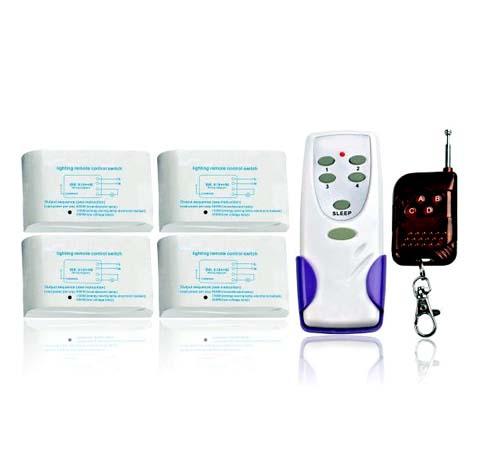 Беспроводной комплект управления освещением 12В/220В диапазона 433 мГц (4 приемника по 1кВт)  MA8184