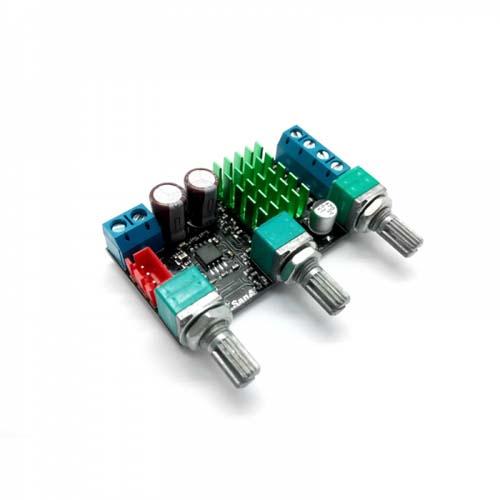 Усилитель НЧ D-класс 2 х 50 Вт с регулировкой тембра (TPA3116) MP3116mini