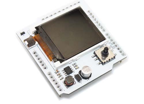 Модуль SH COLORLCD. Цветной CSTN 1,6 дюймовый дисплей (132x132p). Расширение для Arduino