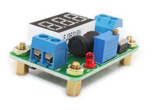 Регулируемый преобразователь напряжения с встроенным вольтметром PW24-1-2D