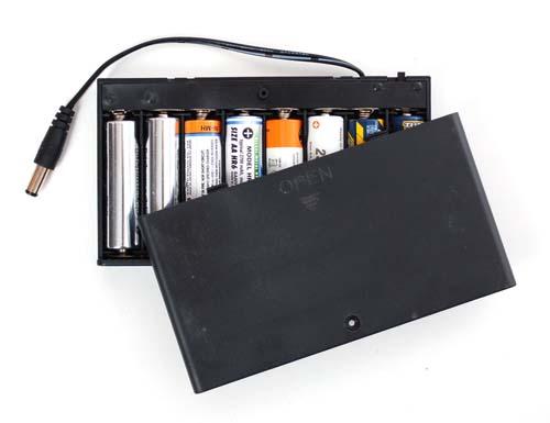 Держатели батарей 8 x AA battery holder with 5.5mm/2.1mm Plug and On/Off Switch