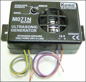 Универсальный ультразвуковой отпугиватель насекомых и грызунов MK075