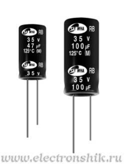 Алюминиевый конденсатор ECAP 1000/6.3V 0811 105C RD