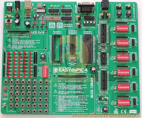 Отладочная плата, набор, встраиваемый модуль ME-EASYDSPIC4