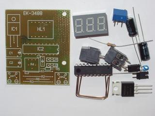 Конструктор EK-3488Kit - цифровой встраиваемый амперметр / вольтметр / милливольтметр постоянного тока