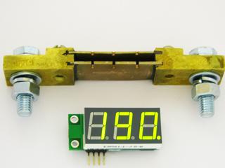 EK-SAH0003G-200 - миниатюрный цифровой встраиваемый амперметр (до 200А) постоянного тока. Зеленый светодиодный индикатор.