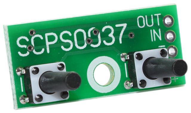 SCPS0037-13V-0.05 - Кнопочный контроллер импульсного стабилизатора напряжения с памятью. U=0,7...13 В, шаг 0,05 В (±3 %)