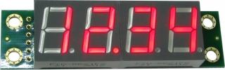 EK-SHD0032R - Четырехразрядный светодиодный семисегментный дисплей со сдвиговым регистром, красный