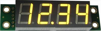 EK-SHD0032UY. Четырёхразрядный семисегментный светодиодный дисплей со сдвиговым регистром. ЖЁЛТЫЙ УЛЬТРА-ЯРКИЙ