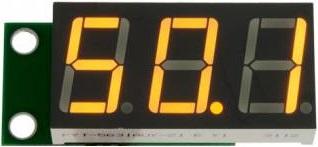 Миниатюрный цифровой встраиваемый вольтметр постоянного тока 0...99,9 В.
