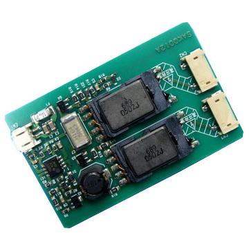 Инвертор для LCD на 2 лампы SAKQ012A, мощный (75x47)