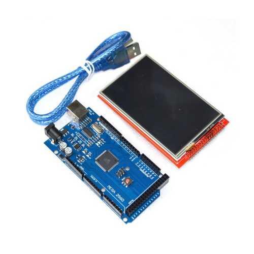 2 в 1 Набор Дисплей 3,2 TFT 320х480 + Arduino MEGA 2560 R3 CH340G + USB-кабель