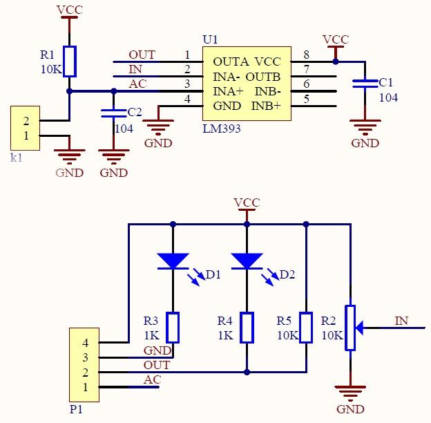 Датчик влажности на lm393 схема