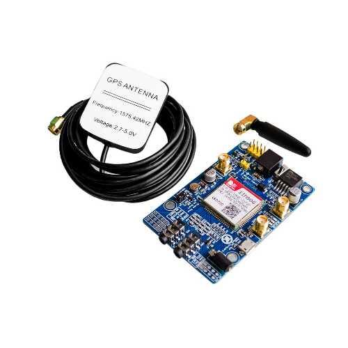 Плата расширения SIM808 GSM GPRS GPS Bluetooth IPX SMA с GPS антенной