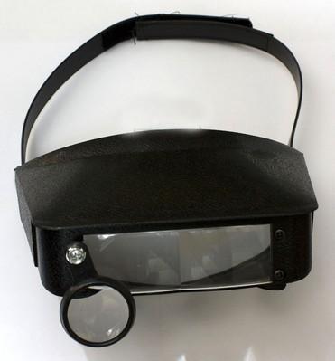 Бинокулярные очки MG81006 с дополнительными линзами, откидываются внутрь.