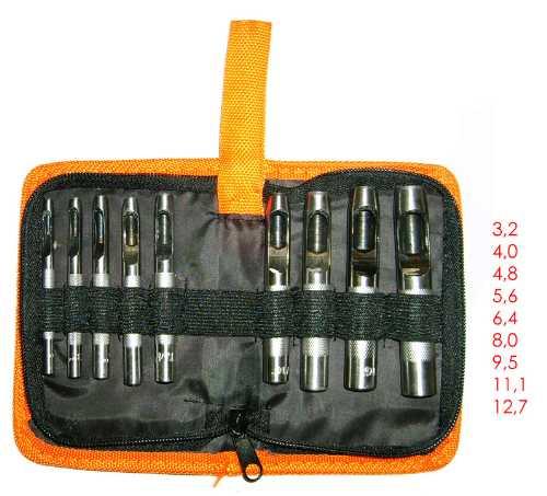 Набор из 9 пробойников 3,2-12,7 мм