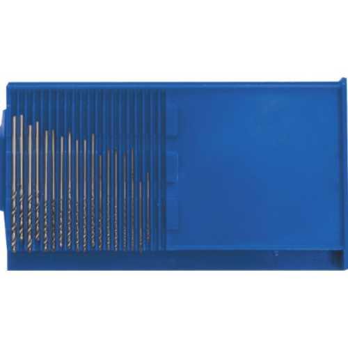 Сверла по металлу HSS полированные микро набор 20 шт.(0,3-1,6 мм.)