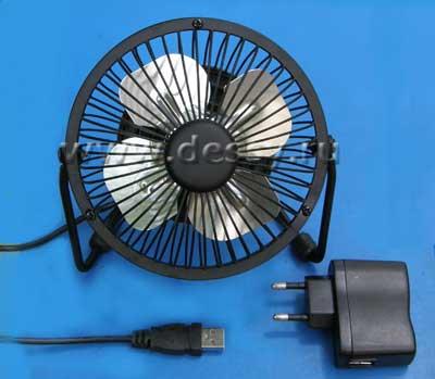 Настольный вентилятор с питанием от USB