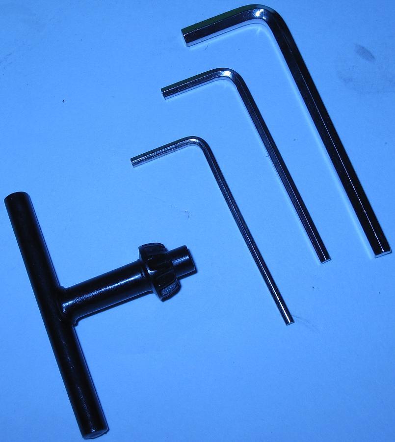 Ключи от настольного сверлильного станка ZB2506-1 мощностью 100 Вт с кулачковым патроном до 6 мм