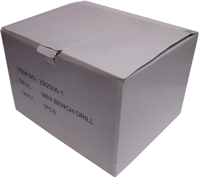 Упаковка настольного сверлильного станка ZB2506-1 мощностью 100 Вт с кулачковым патроном до 6 мм