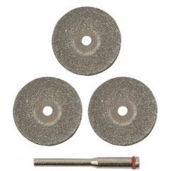 Набор из 3-х дисков с алмазным напылением + держатель.