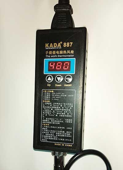 Фен паяльный цифровой KADA KD-887