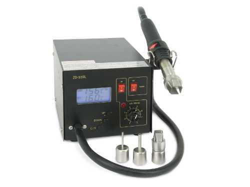 ZD939L станция цифровая паяльная антистатическая (черн.) LCD дисплей (фен 22L/min) RoHS 89-3916