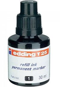 Тушь чёрная T25 для заправки маркеров Е-400 и Е-404. Ёмкость 30 мл.