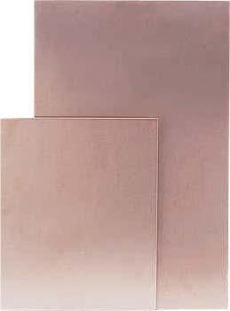 Стеклотекстолит фольгированный односторонний импорт 1,0 мм 160 х 160 мм. Медь 35 мкм.