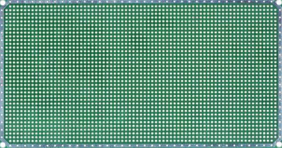 Двусторонняя макетная плата 2DM с металлизацией отверстий.