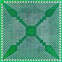 Двусторонняя  макетная печатная плата QFP 28-84 1   с металлизацией отверстий.