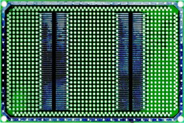 Двусторонняя макетная плата MTR237 с металлизацией отверстий.