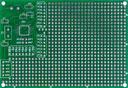 Двусторонняя макетная плата MTR238 с металлизацией отверстий под типовое включение процессоров AVR Atmega