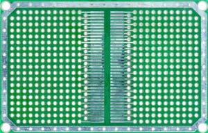 Двусторонняя макетная плата MTR241PLUS (0.5DM_SOIC) с металлизацией отверстий,