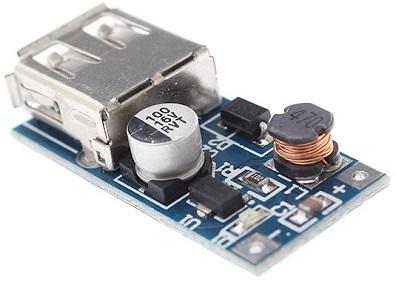 Модуль RP003. Повышающий преобразователь напряжения PJ3400 (0,9...4,4 В в 5 В ; 0,6 А)