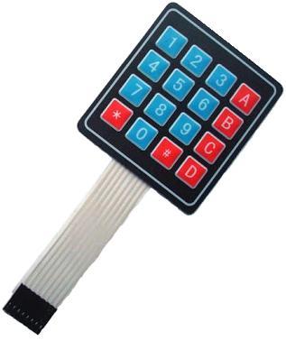 Модуль RC004. Миниатюрная матричная плёночная (мембранная) клавиатура 4х4