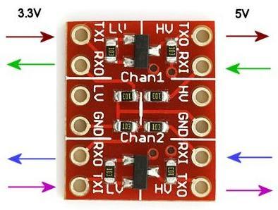 Модуль RC007. Преобразователь уровней 3,3 В и 5 В