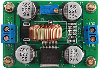 Модуль RP005. Повышающий DC-DC регулируемый преобразователь напряжения 3,5...30 В в 4...30 В (5 A) (LM2587)