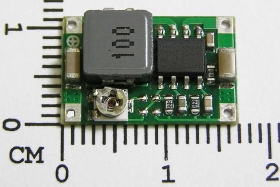 Модуль RP008. Миниатюрный понижающий преобразователь напряжения 4,75...23 В в 1...17 В (max 2 А)