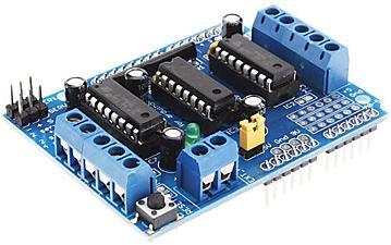 Модуль RA022. Motor Shield на базе микросхем L293D