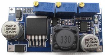 Модуль RP013. Понижающий DC-DC преобразователь напряжения (7…35 В в 1,25…30 В ; max 3 А) с контроллером тока на микросхеме LM2596S-ADJp+