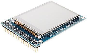 Модуль RC016. TFT LCD дисплей 2,4 дюйма (320x240p) с сенсорной панелью и гнездом для SD-карты на базе контроллера ILI9325